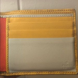 Gucci Other - Gucci logo yellow/red-orange BiFold men's wallet
